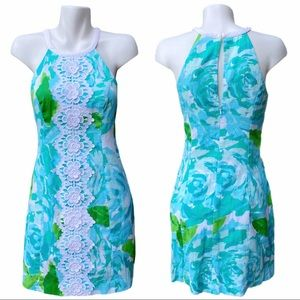 Lilly Pulitzer Poolside Blue Pearl Shift Dress